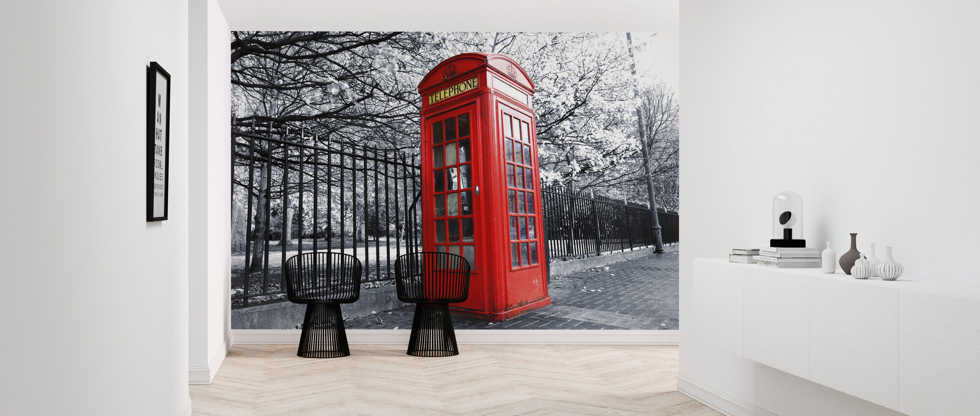 London rød telefonboks - Tapet - Gang