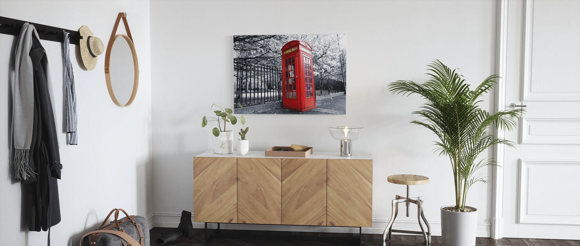 London röd telefon box - Canvastavla - Hall