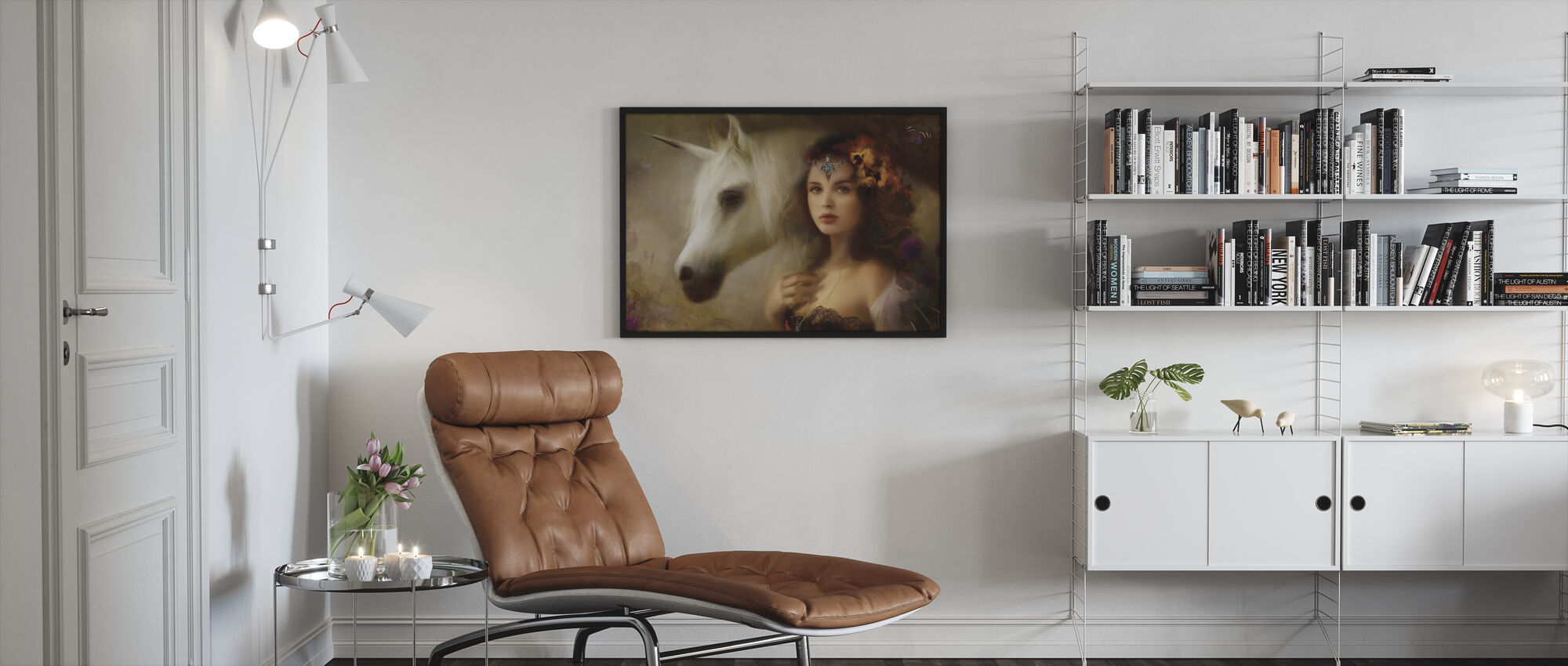 Unicorn - Framed print - Living Room