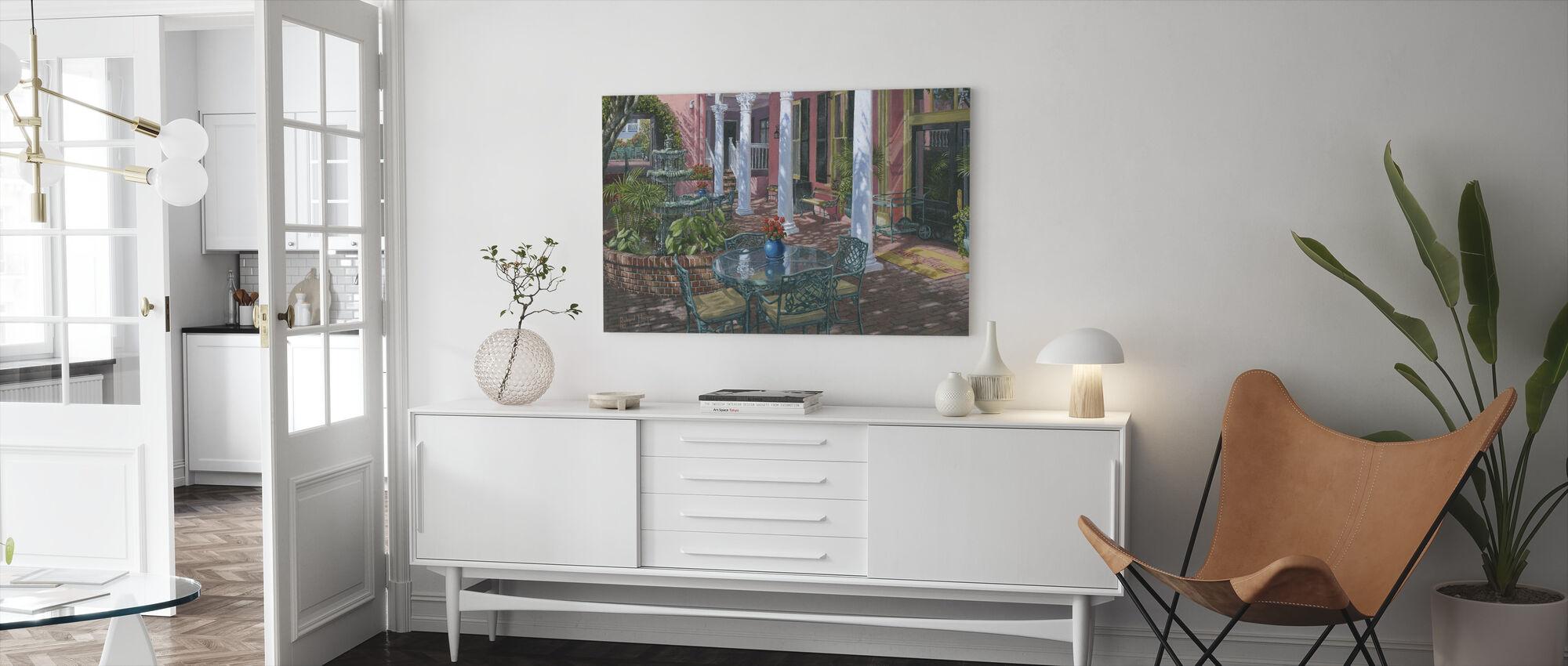 Mötesplats Inn Charleston - Canvastavla - Vardagsrum