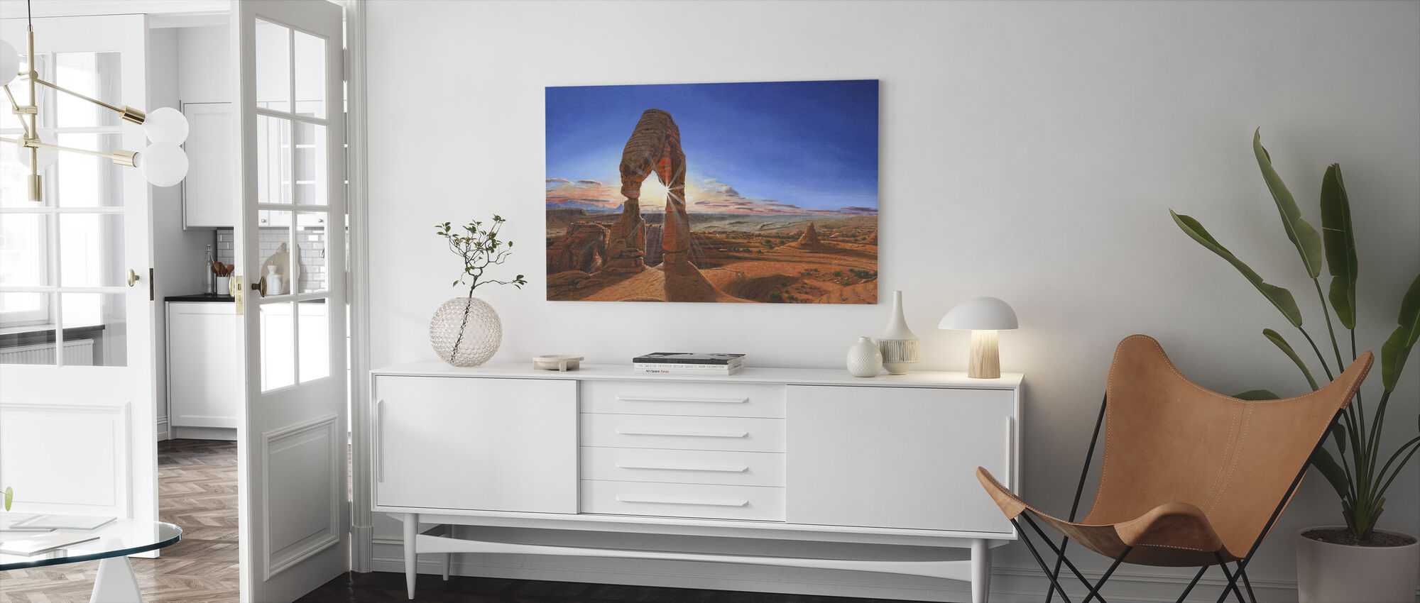 Sunset at Delicate Arch Utah - Canvas print - Living Room