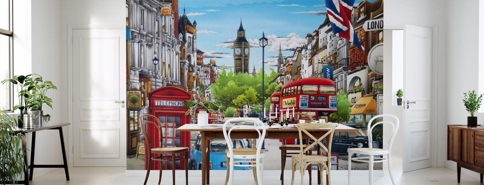 Londen - Behang - Keuken