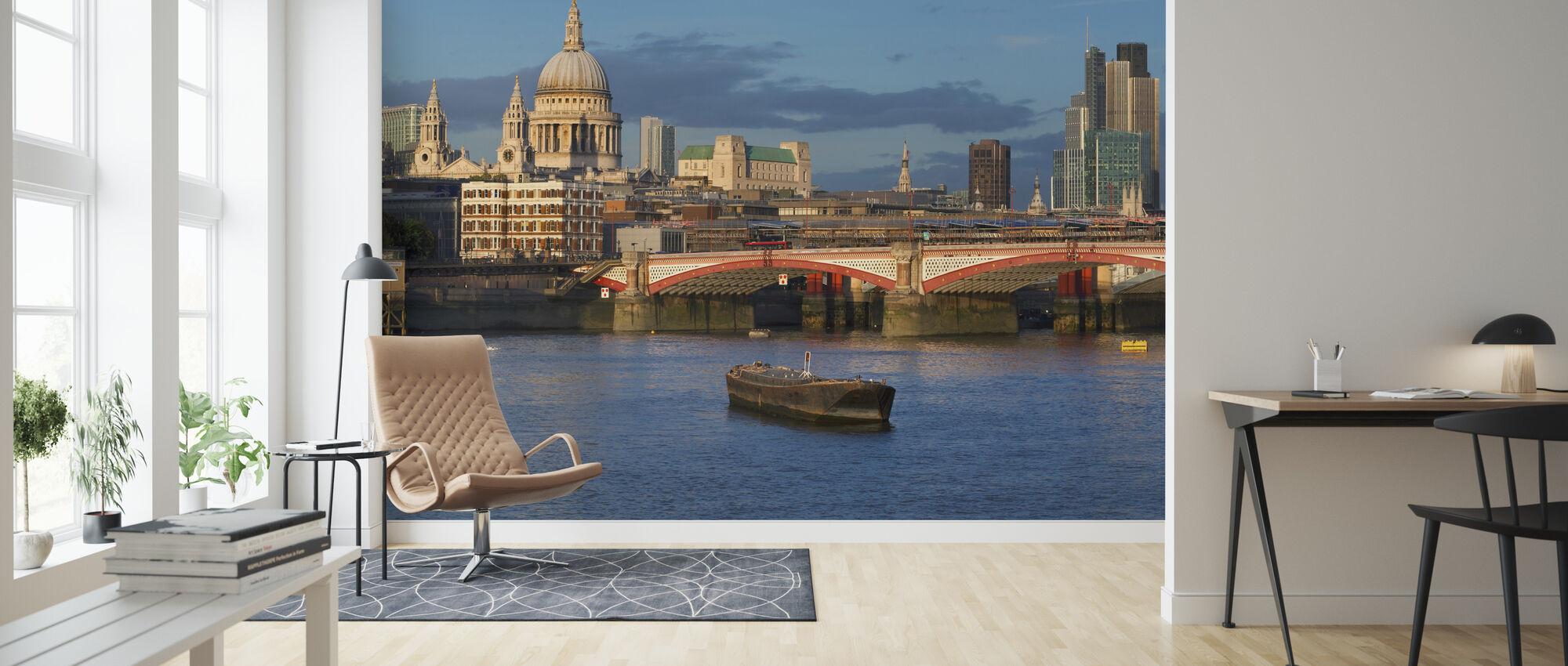 Thames Landscape - Wallpaper - Living Room