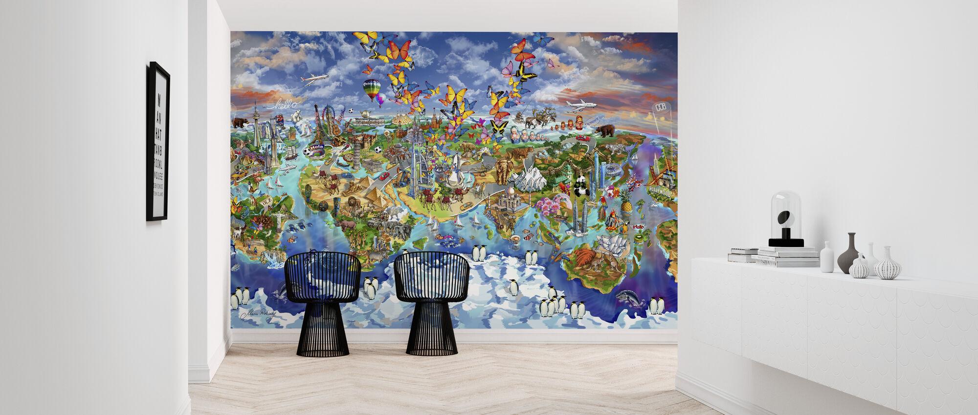 World Wonders Illustrated Map