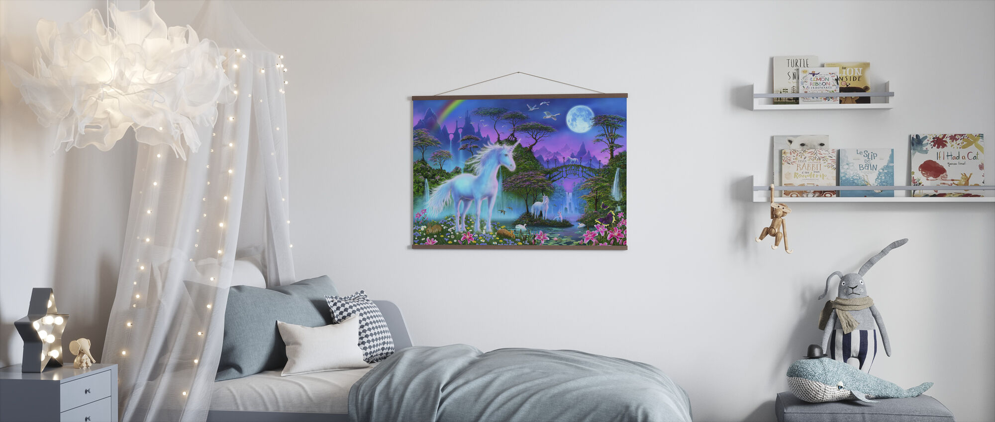 Bridge Unicorns - Poster - Kids Room