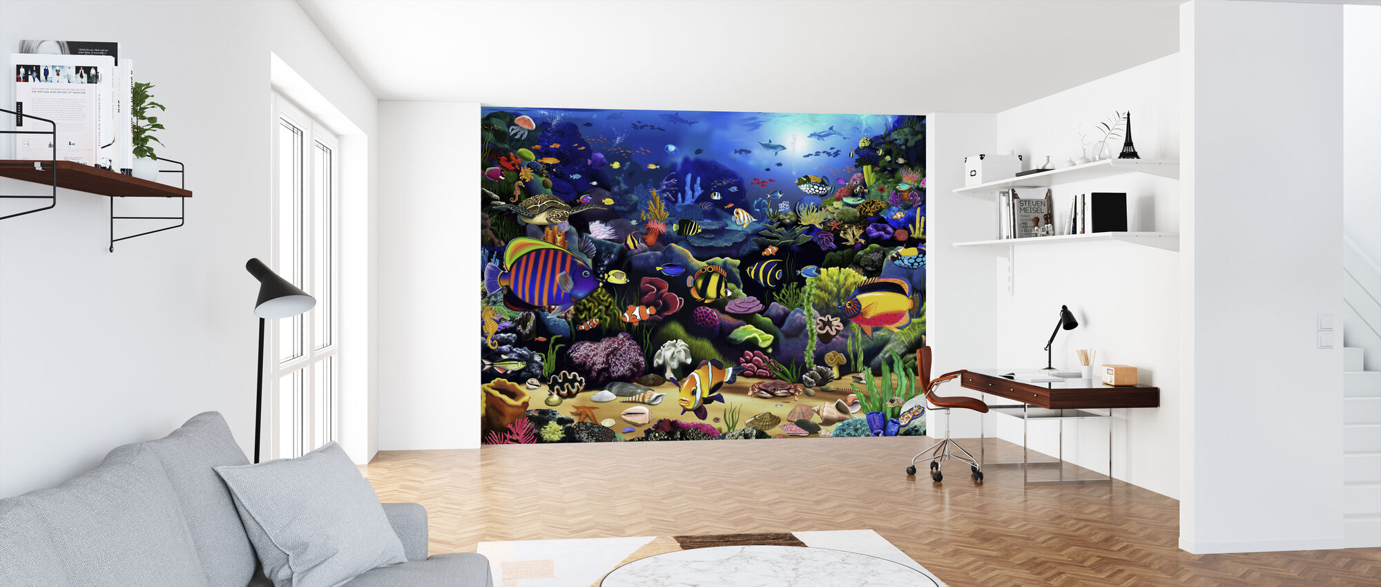 Colourful Reef - Wallpaper - Office