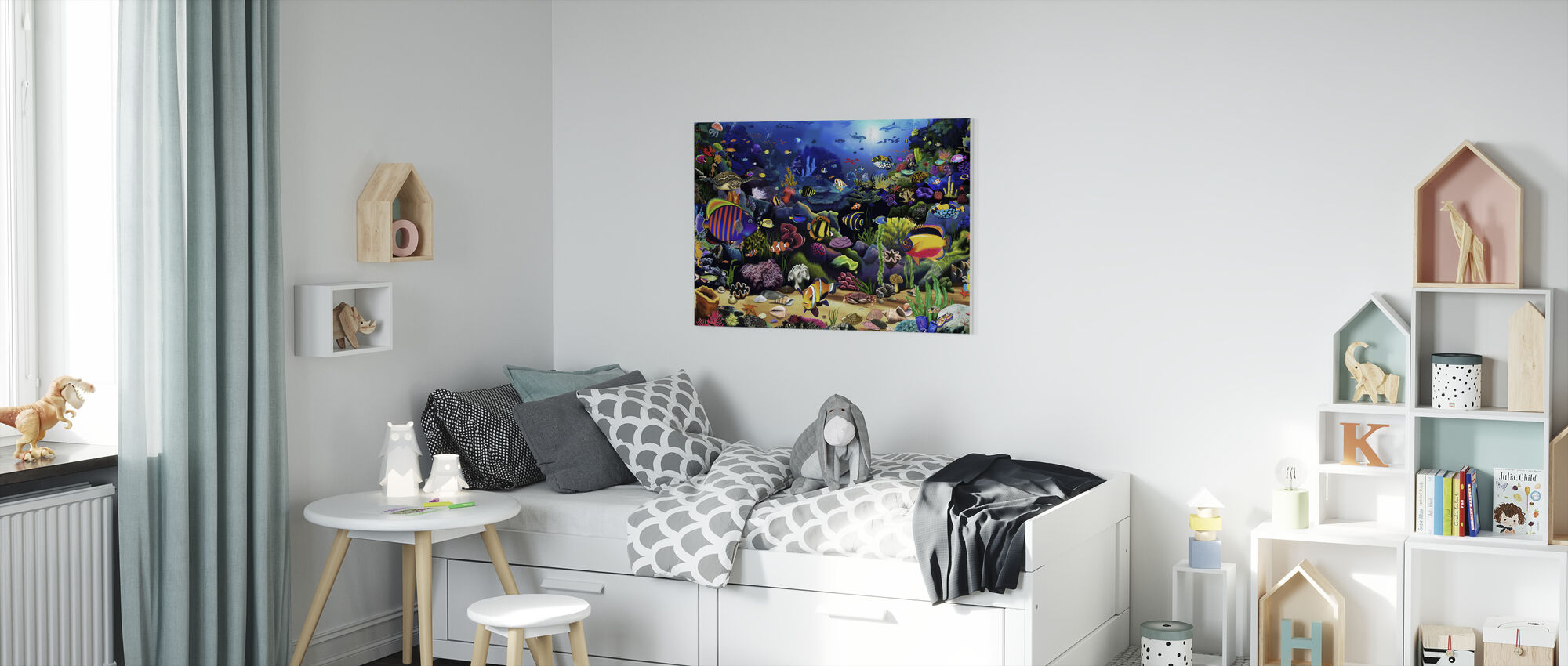 Colourful Reef - Canvas print - Kids Room