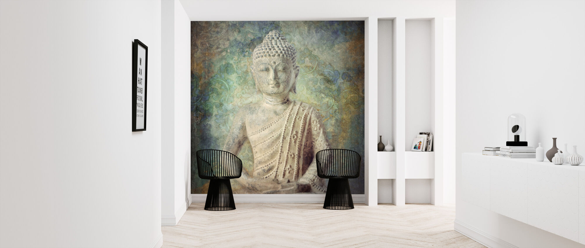 Tranquil Buddha Squared - Wallpaper - Hallway