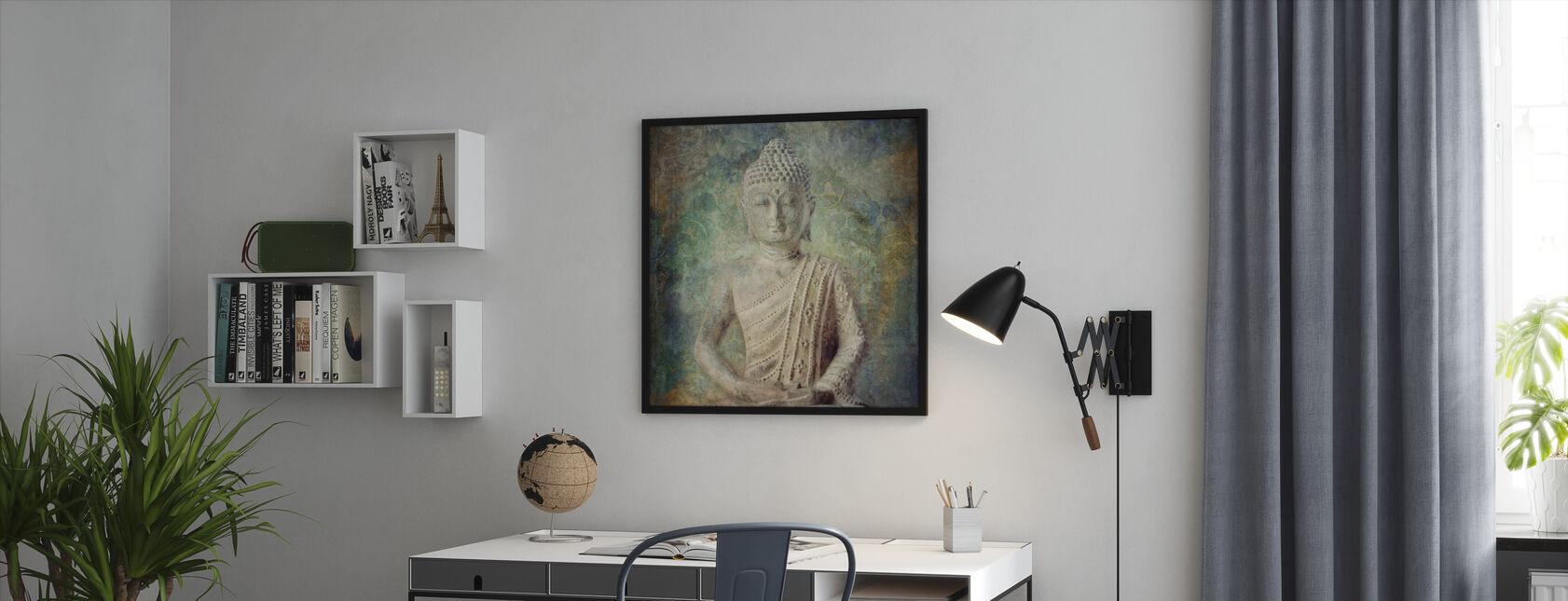 Ruhiger Buddha Quadriert - Gerahmtes bild - Büro
