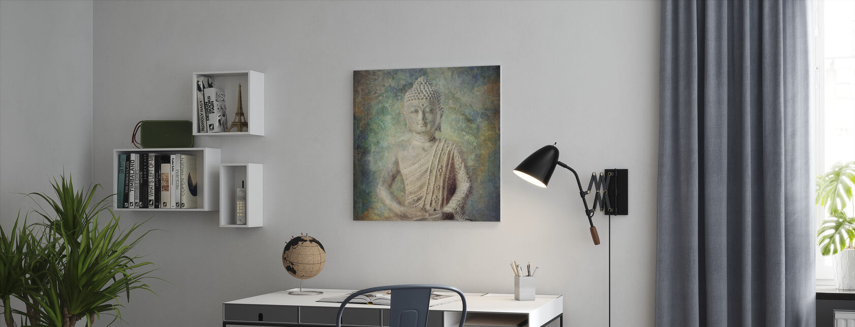 Tranquil Buddha Squared - Canvas print - Office