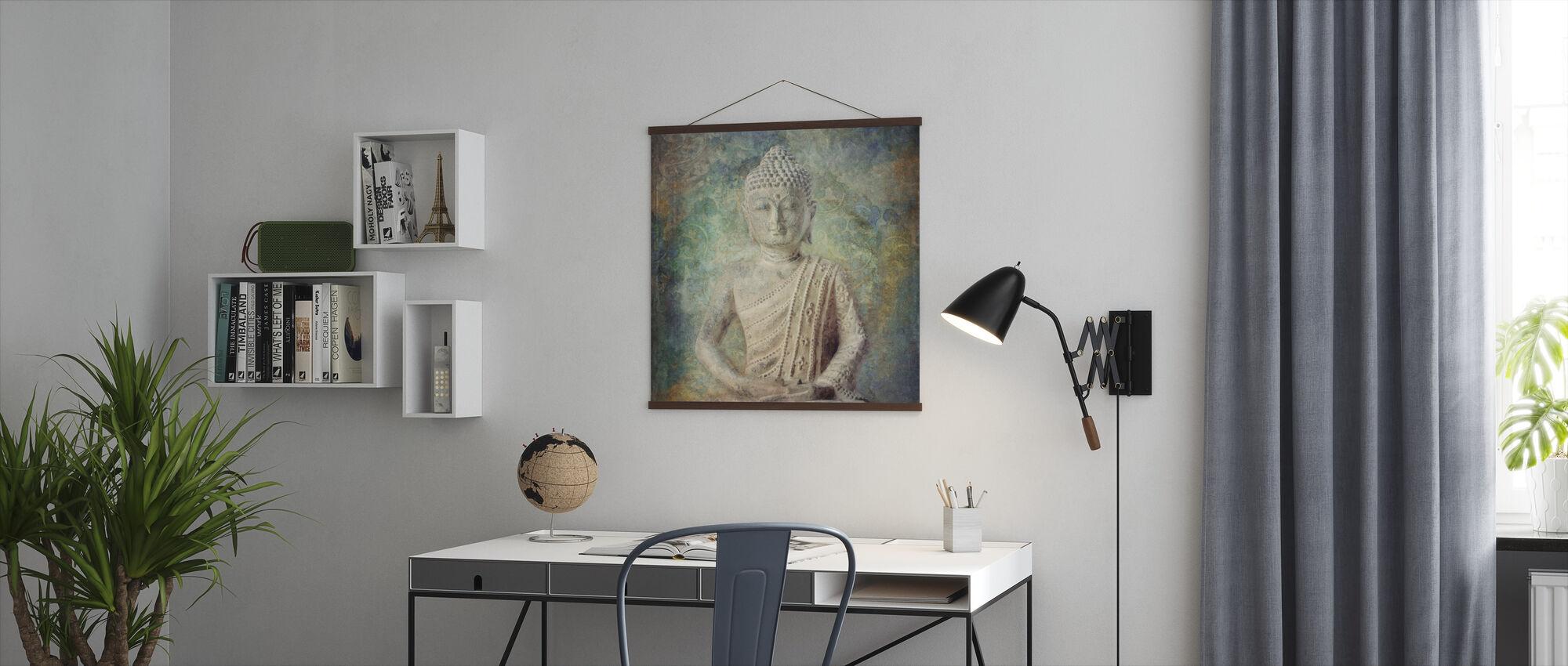 Rustige Boeddha kwadraat - Poster - Kantoor