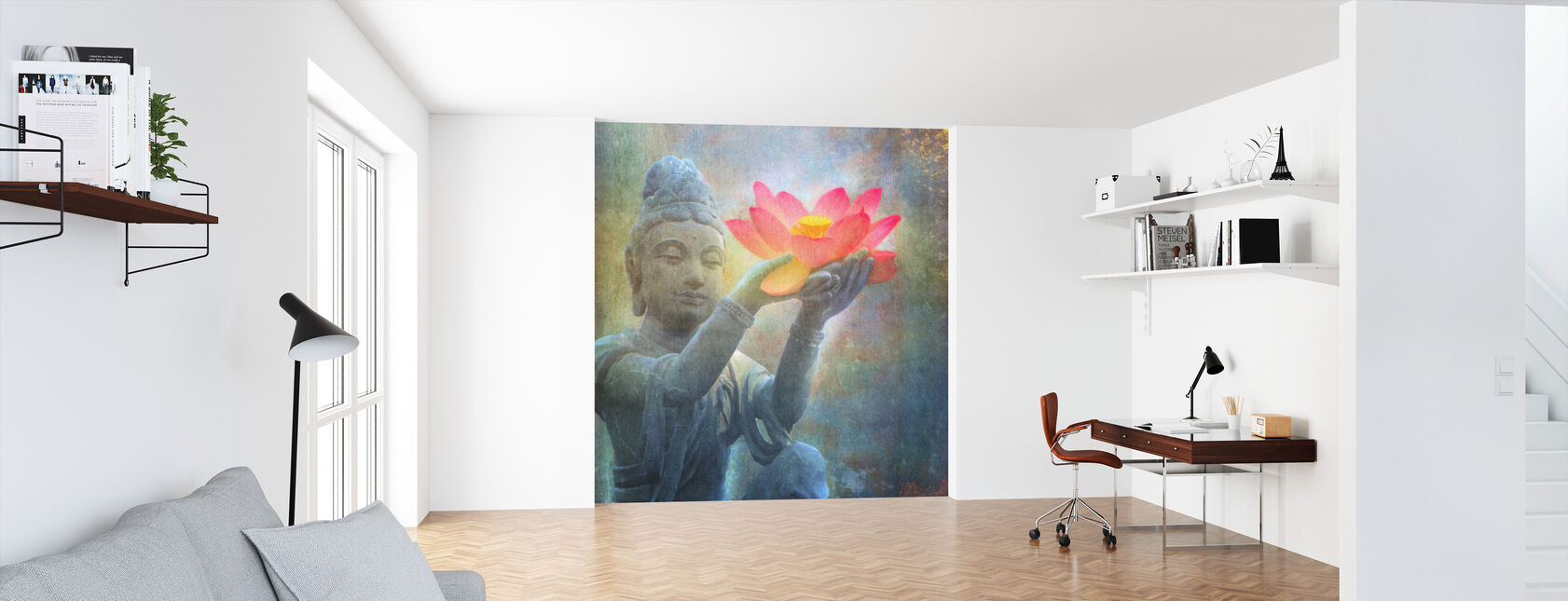Lotus Budda Squared - Wallpaper - Office