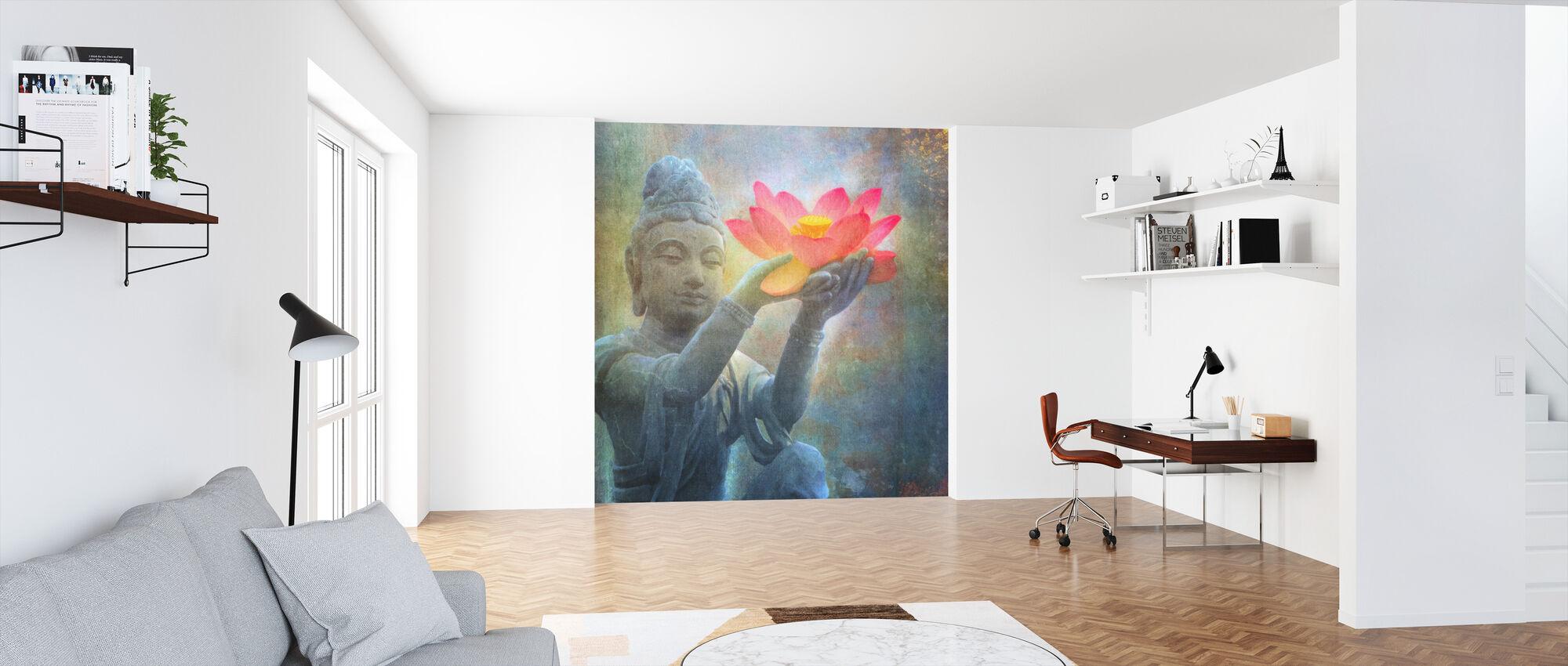 Lotus Budda kvadrat - Tapet - Kontor