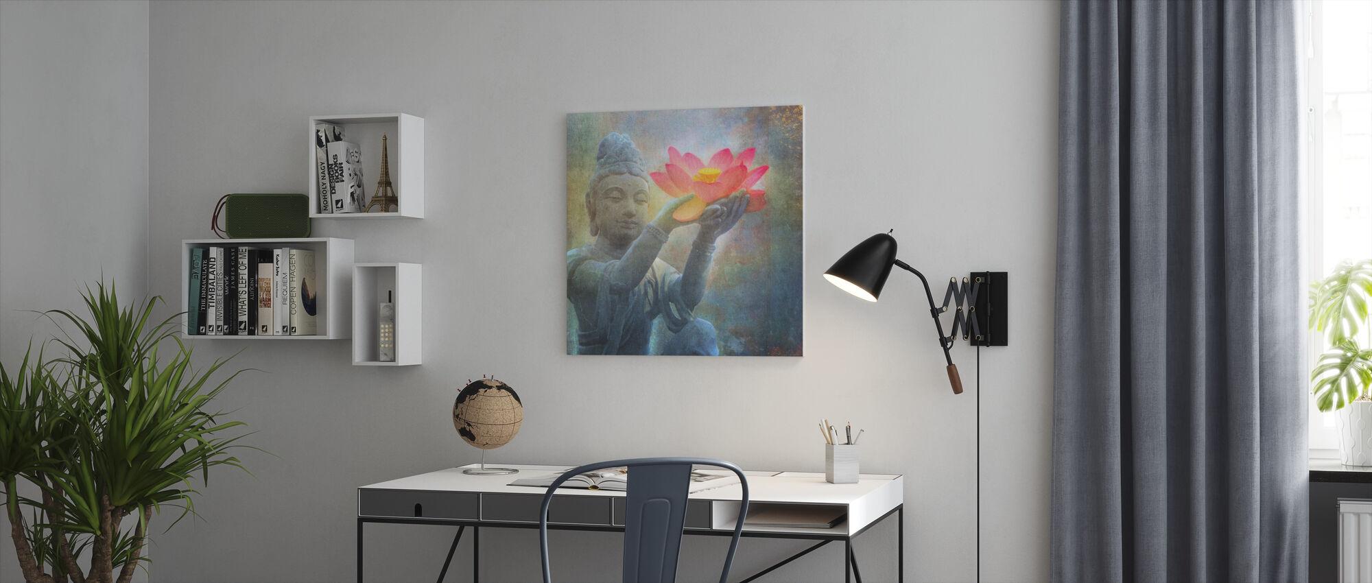 Lotus Budda Squared - Canvas print - Office