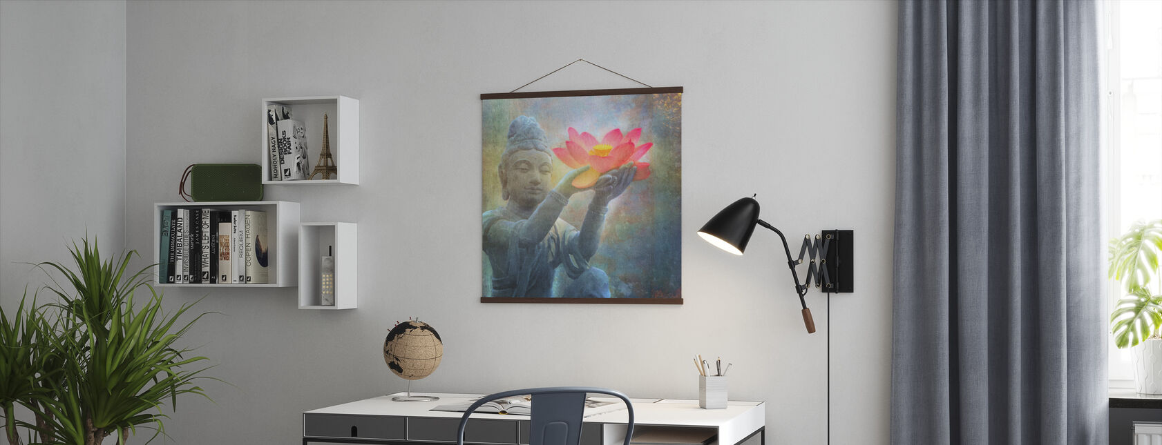 Lotus Budda Squared - Poster - Office
