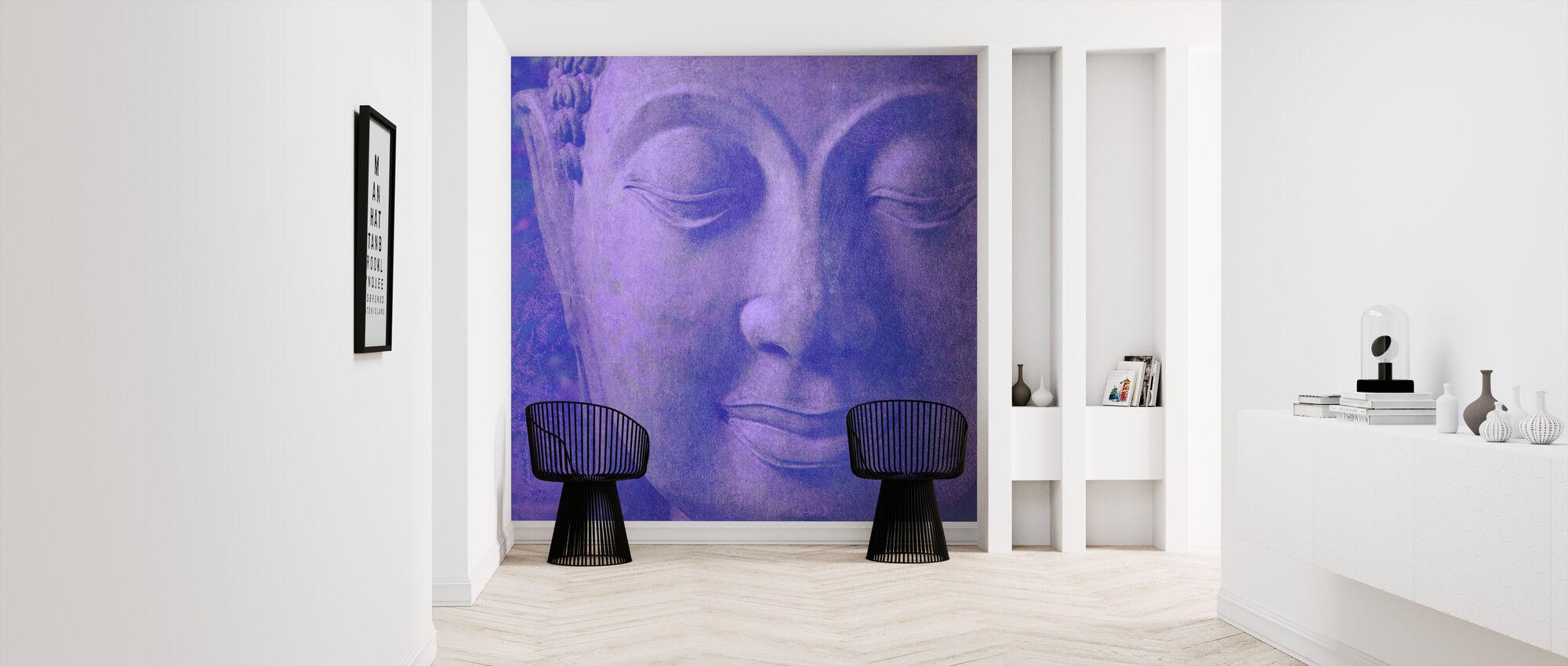 Paarse Boeddha kwadraat - Behang - Gang