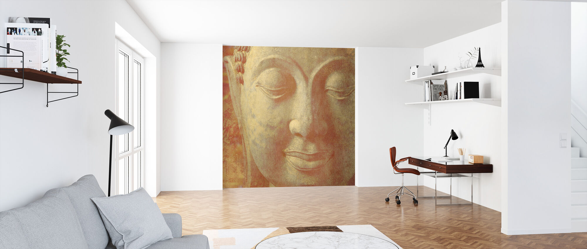 Saffron Buddha Squared - Wallpaper - Office