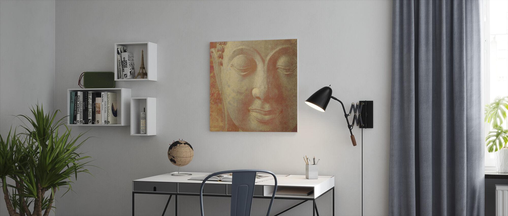 Saffron Buddha Squared - Canvas print - Office