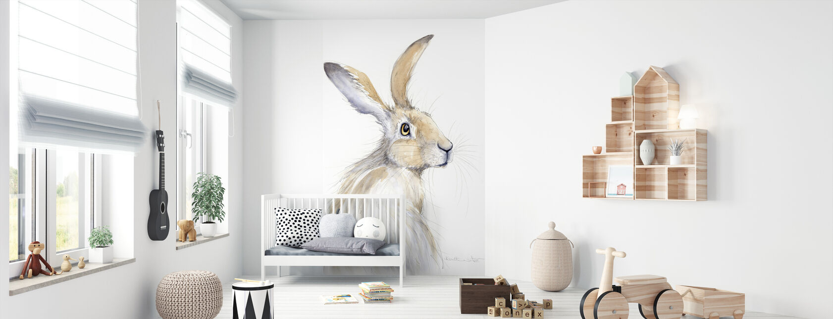 Erin Rabbit - Wallpaper - Nursery