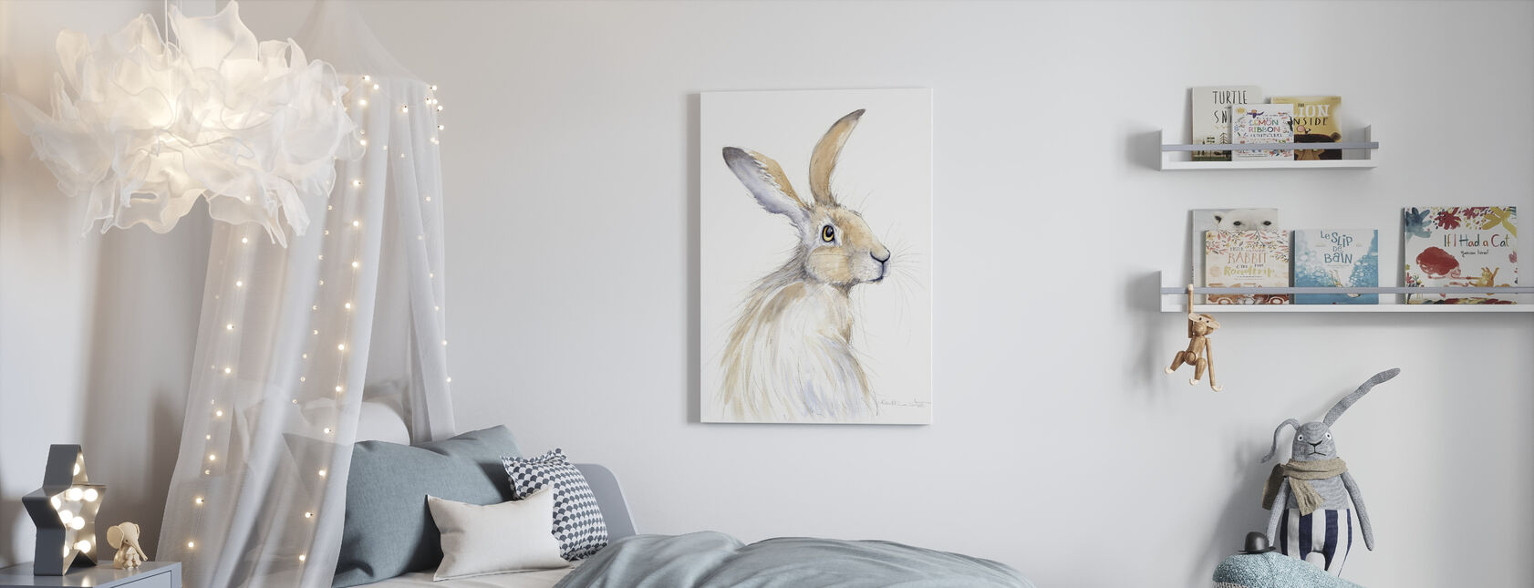 Erin Konijn - Canvas print - Kinderkamer