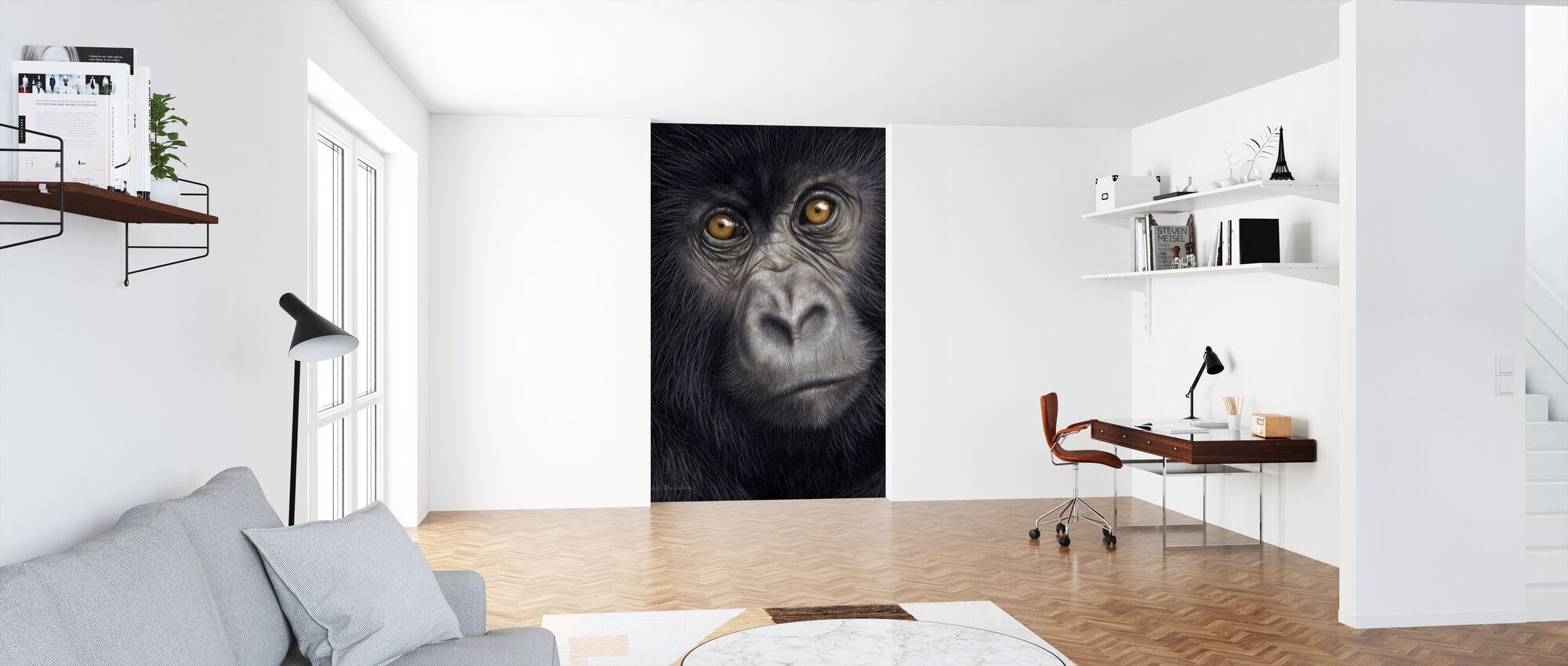 Young Mountain Gorilla - Wallpaper - Office