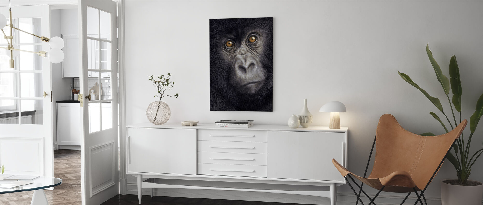 Young Mountain Gorilla - Canvas print - Living Room