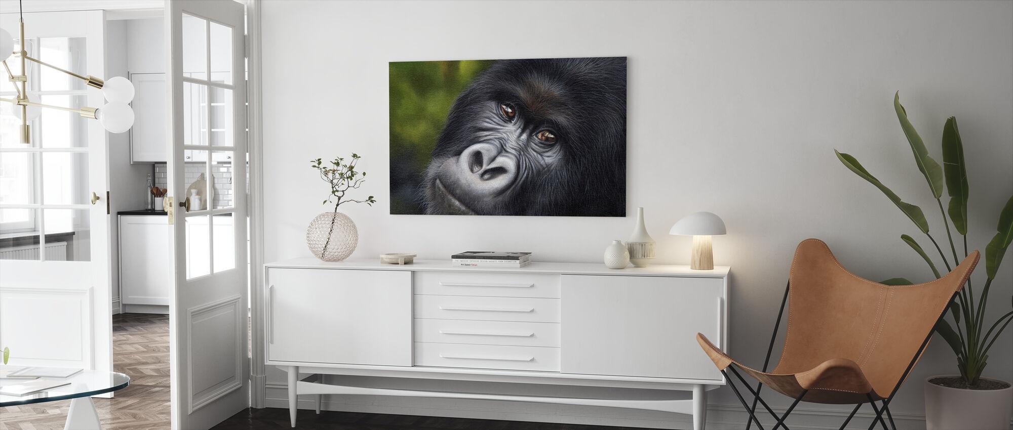 Berg Gorilla - Canvastavla - Vardagsrum