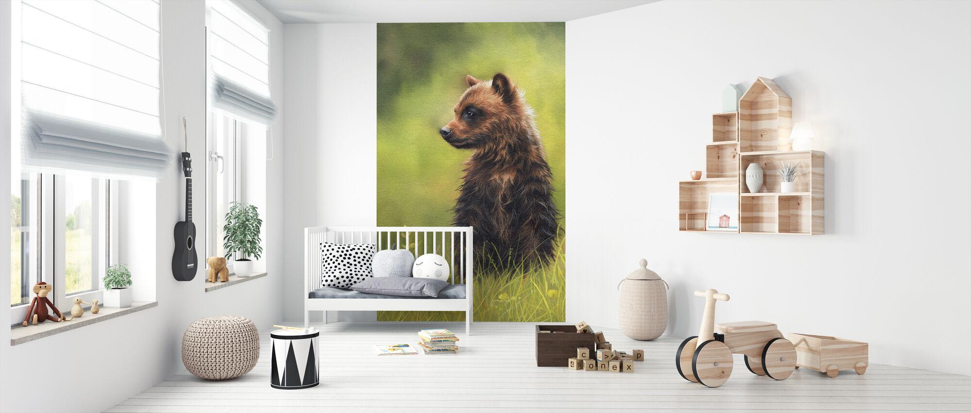 Ruskea Karhunpentu - Tapetti - Vauvan huone