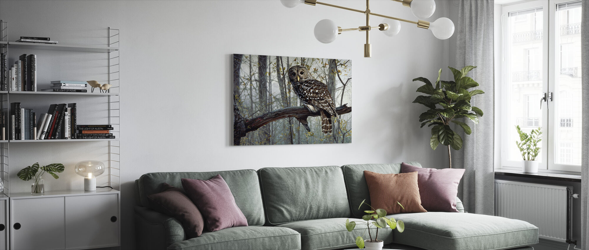 Skogens ande - Canvastavla - Vardagsrum