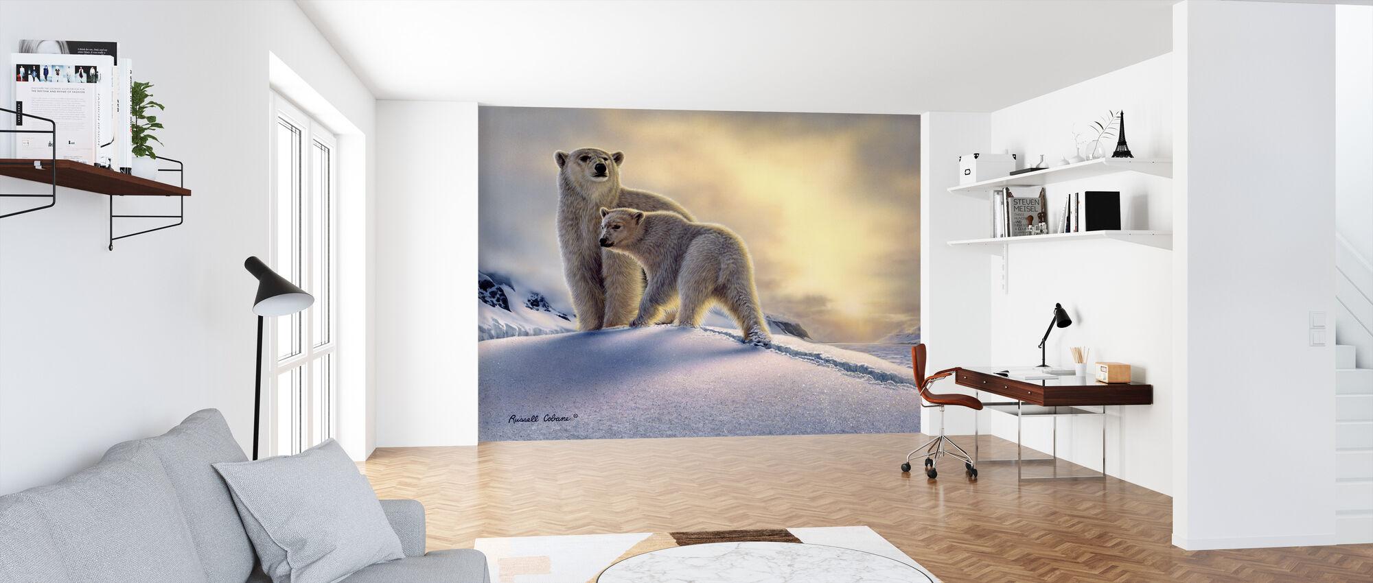 Arktiske daggry isbjørner - Tapet - Kontor