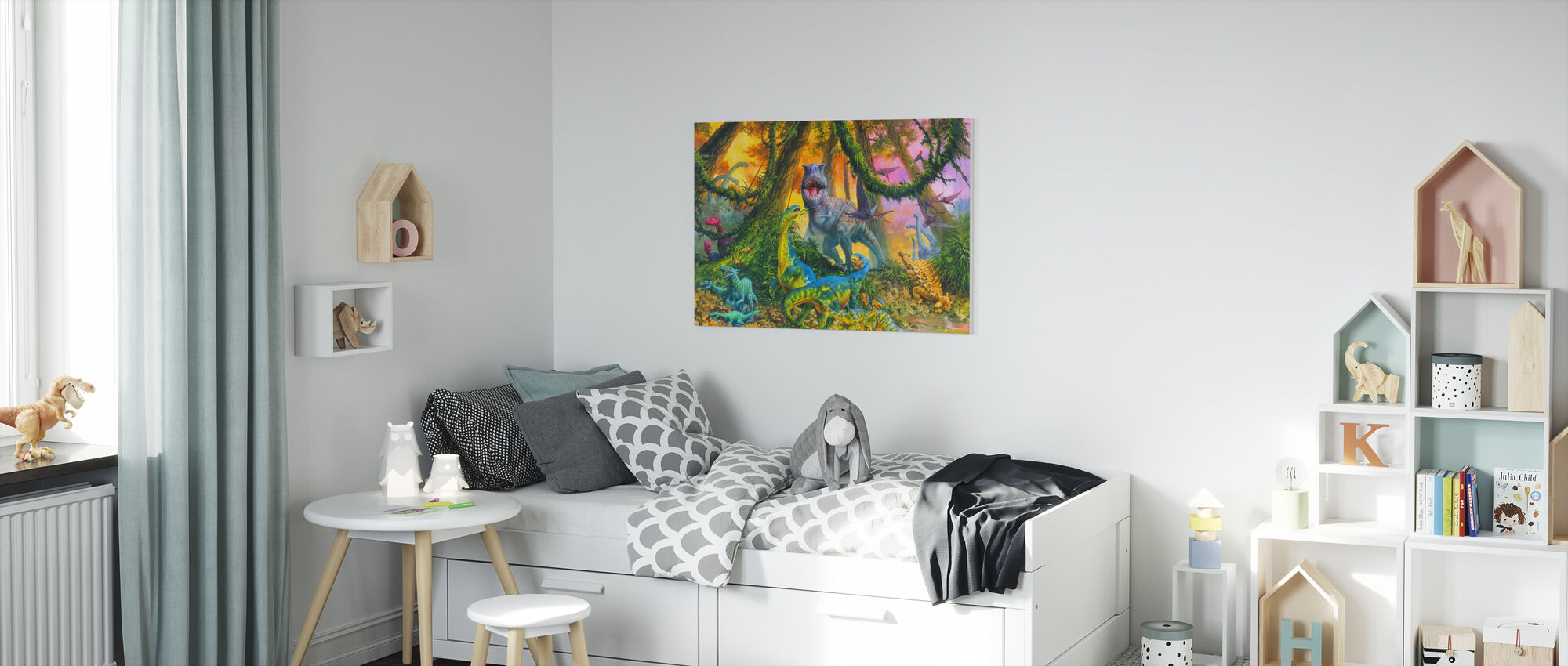 Dinosaur Jungle - Canvas print - Kids Room