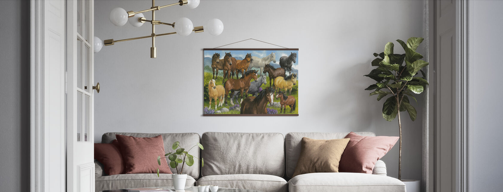 British Ponies - Poster - Living Room