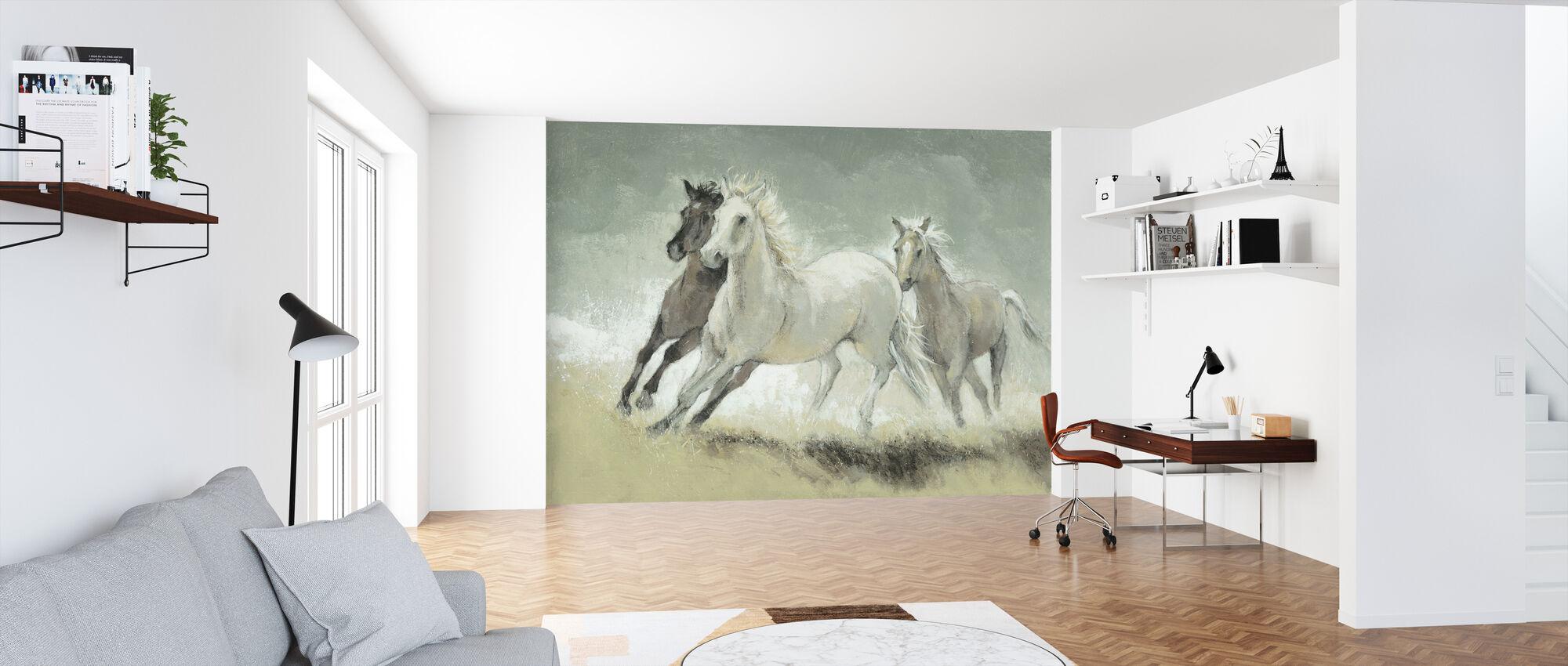 Pferde galoppieren - Tapete - Büro