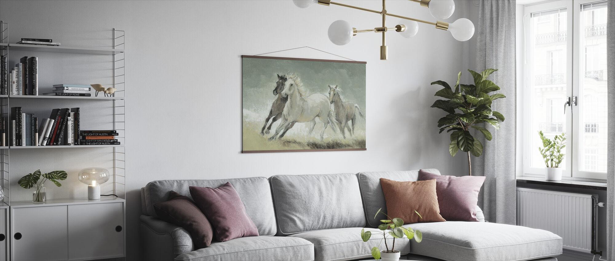Pferde galoppieren - Poster - Wohnzimmer