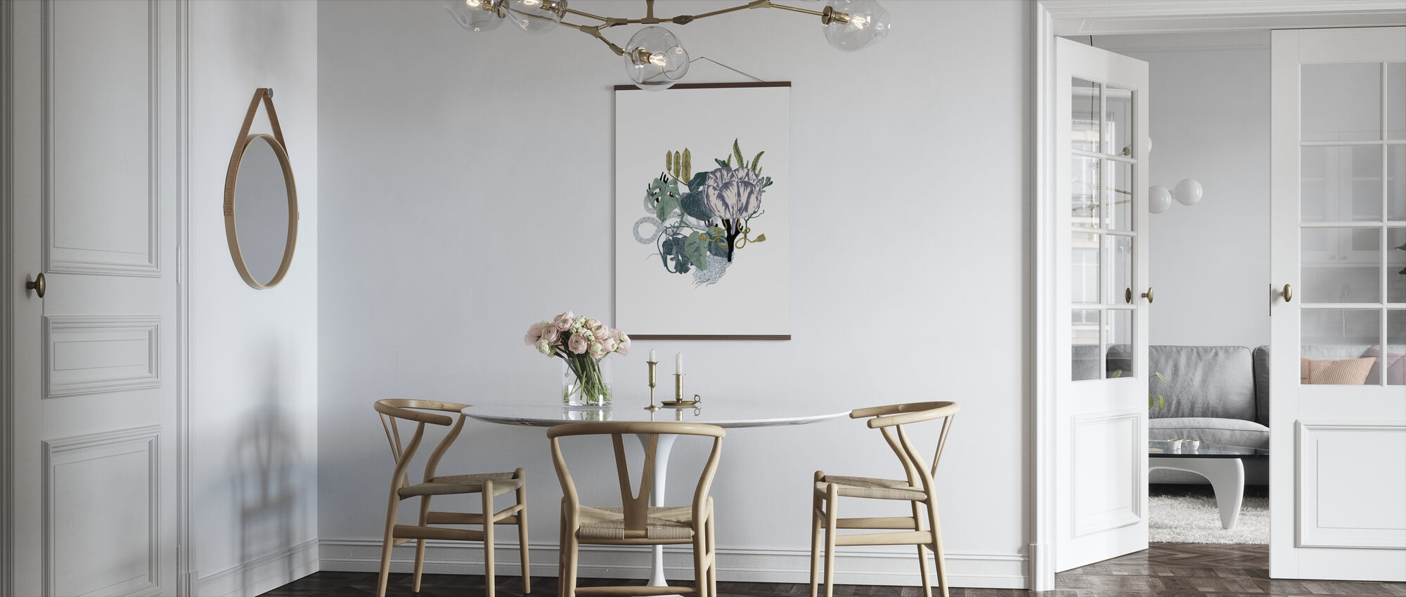 Blek tulpan - Poster - Kök