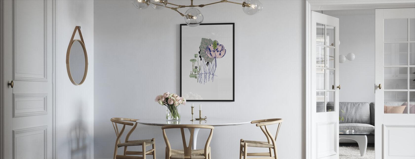 Søde Ærter Flora - Indrammet billede - Køkken