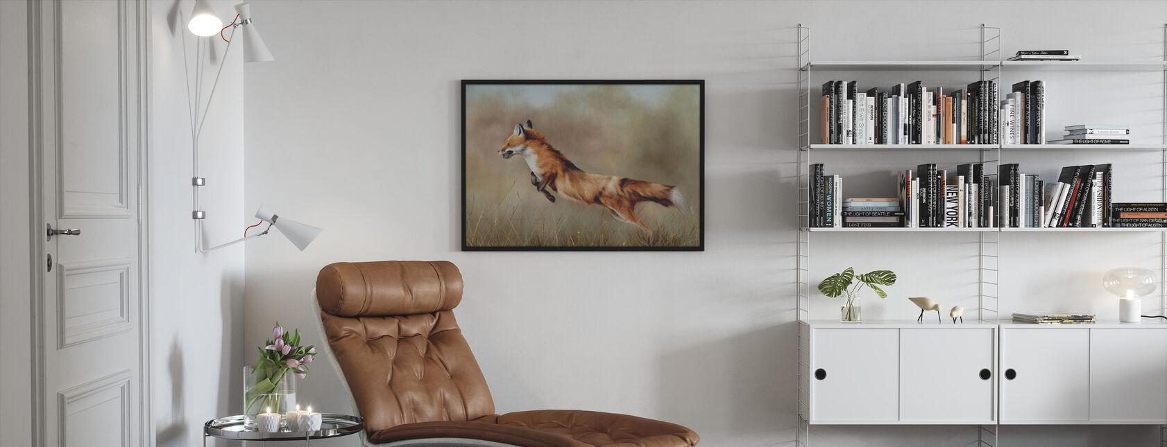 Punainen ketun - Kehystetty kuva - Olohuone