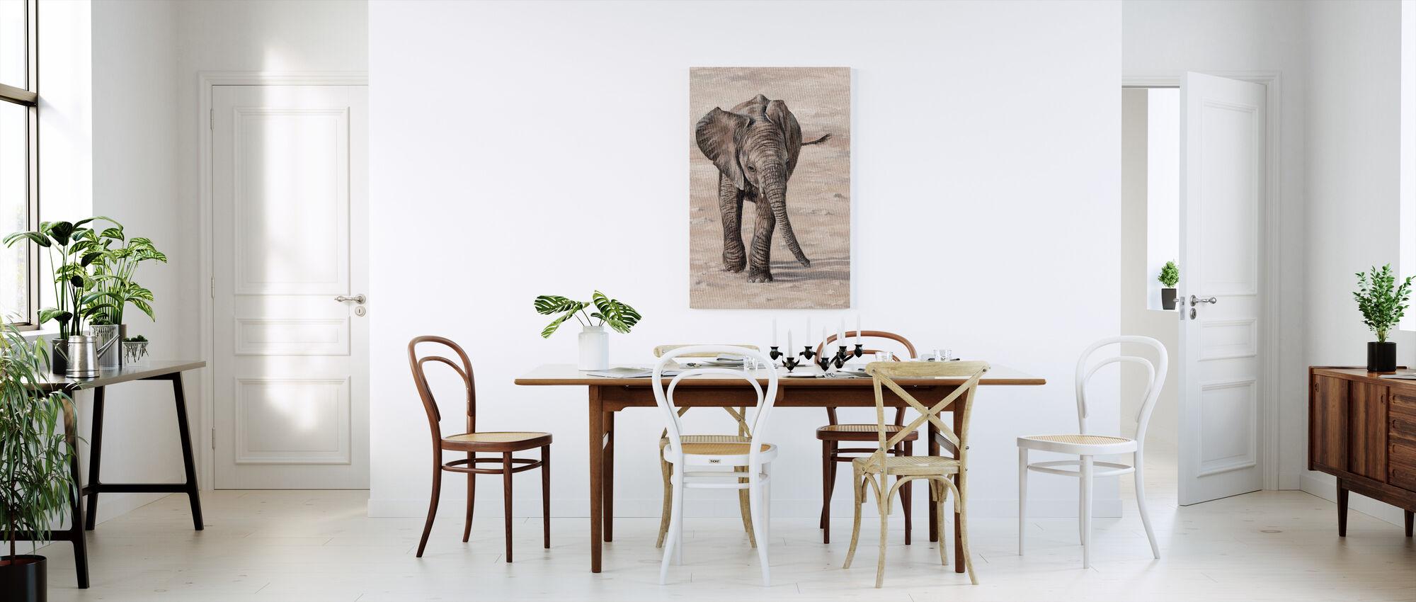 African Elephant Calf - Canvas print - Kitchen
