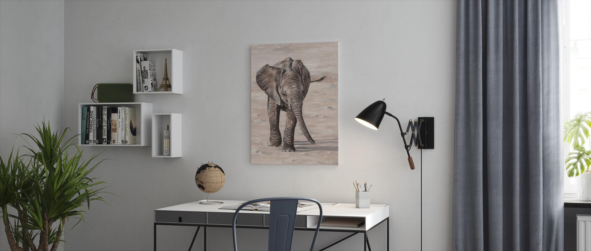 Afrikkalainen norsun vasikka - Canvastaulu - Toimisto