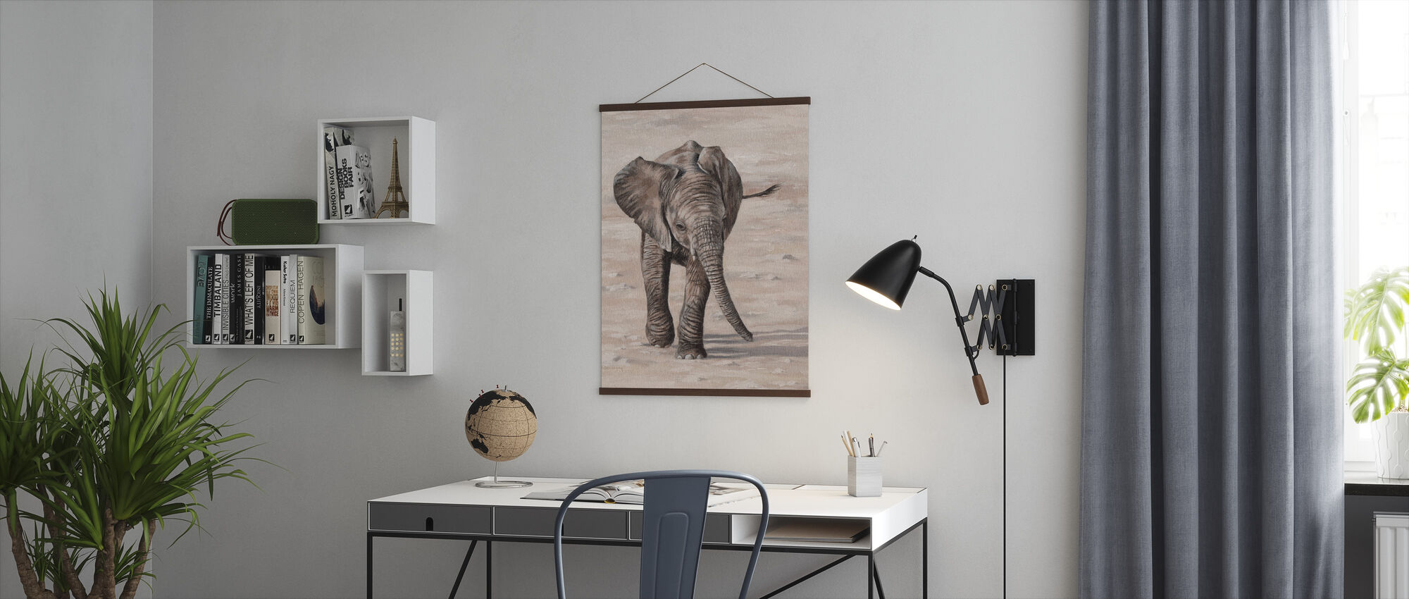 African Elephant Calf - Poster - Office