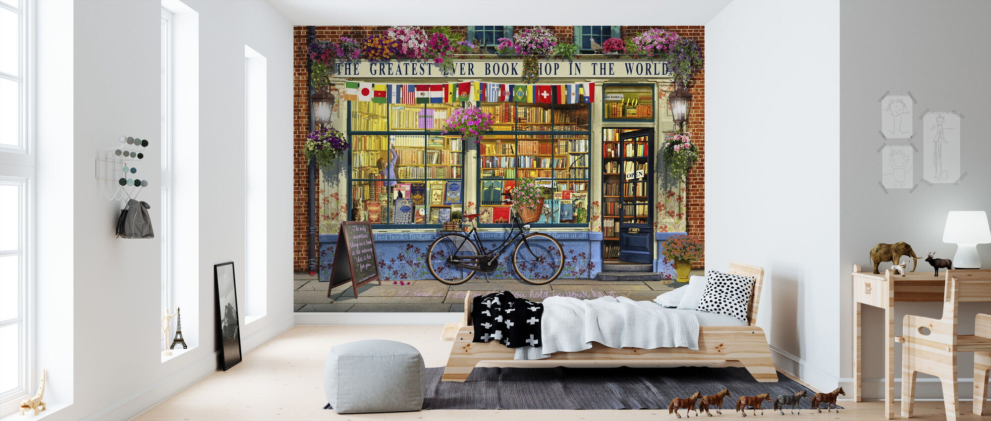 Greatest Bookshop In The World - Wallpaper - Kids Room