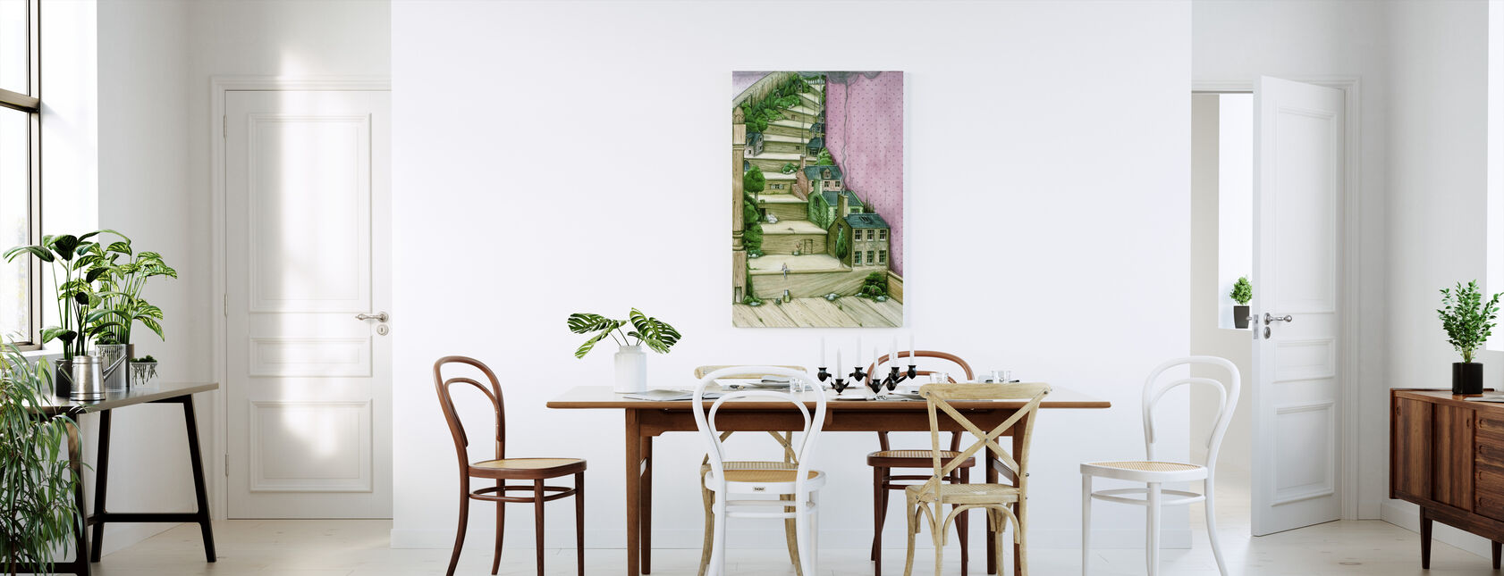 Living Stairs - Canvas print - Kitchen