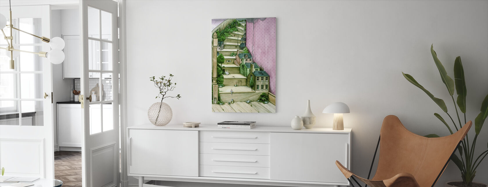 Living Stairs - Canvas print - Living Room