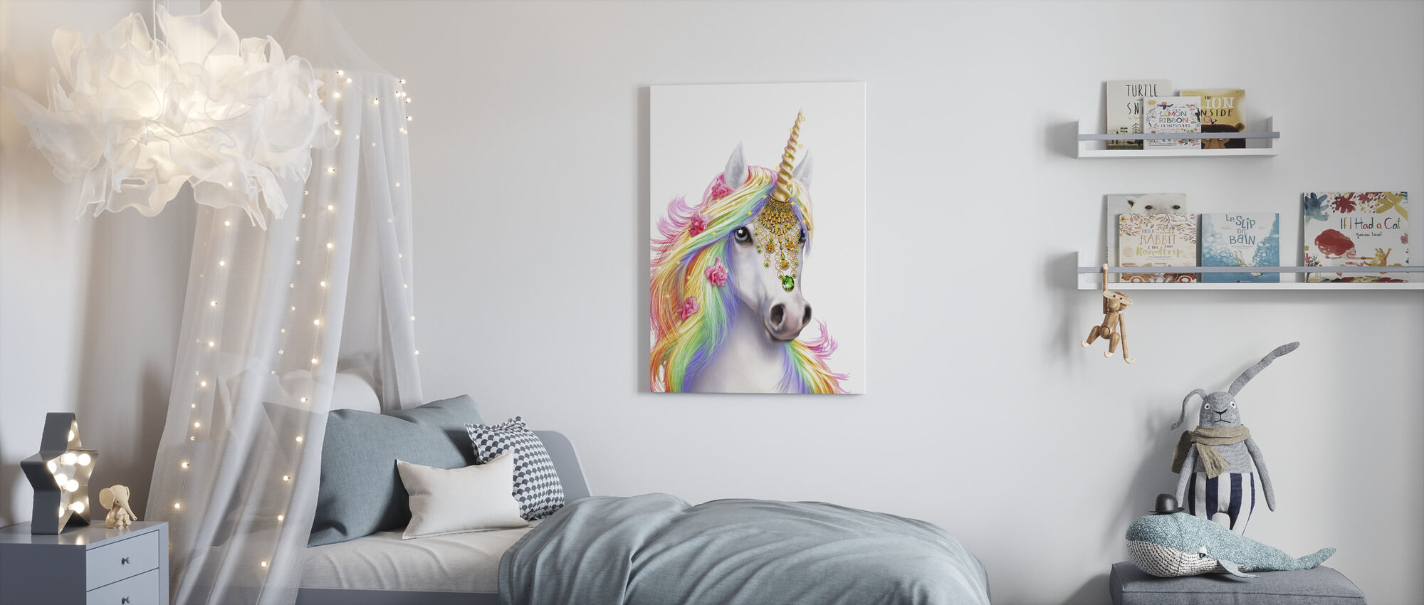 Unicorn - Canvas print - Kids Room