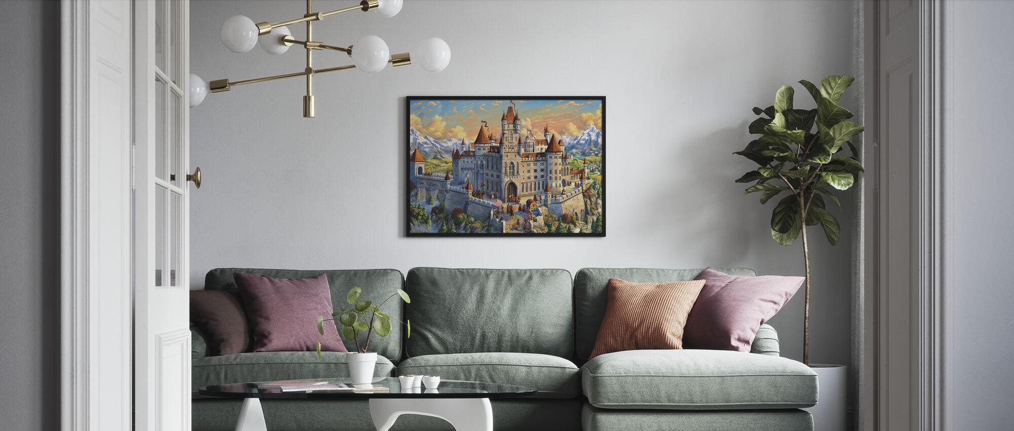 Magnificant Castle - Framed print - Living Room