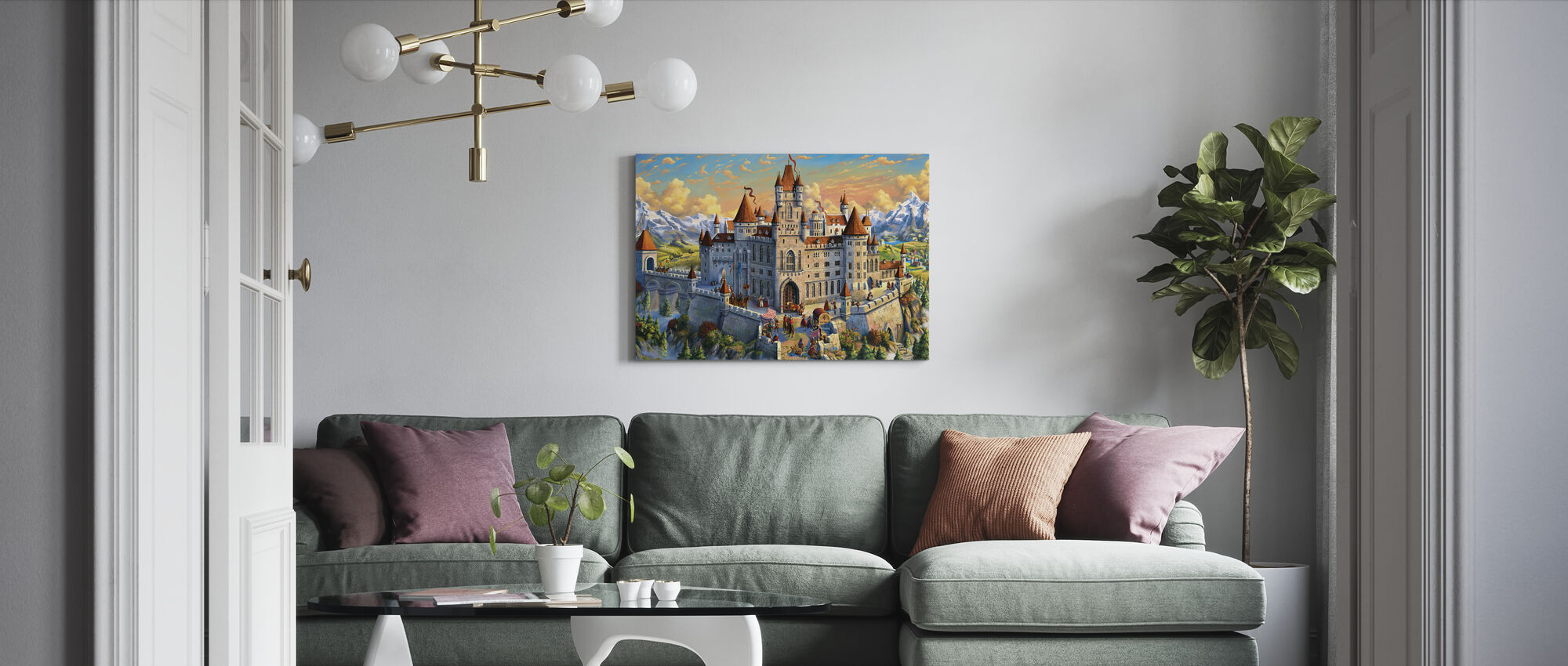 Magnificant Castle - Canvas print - Living Room