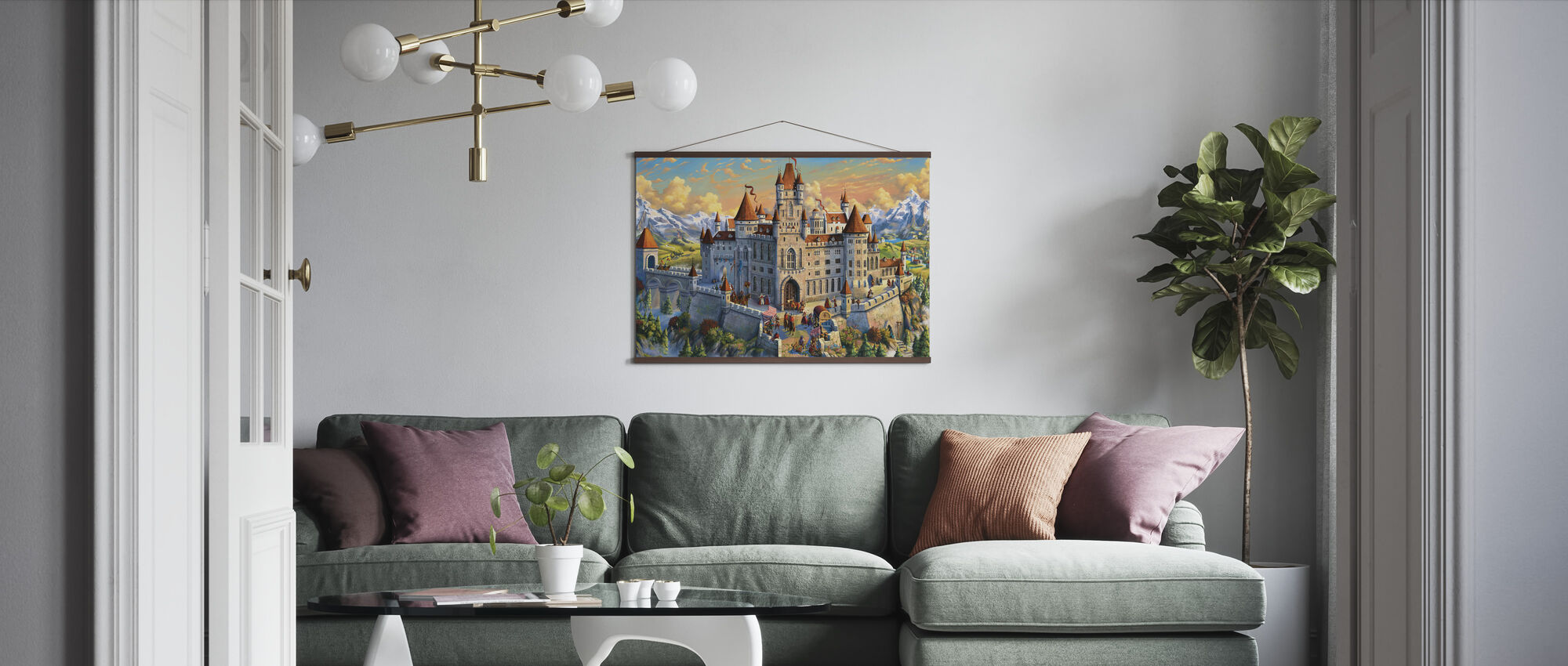 Magnificant Castle - Poster - Living Room
