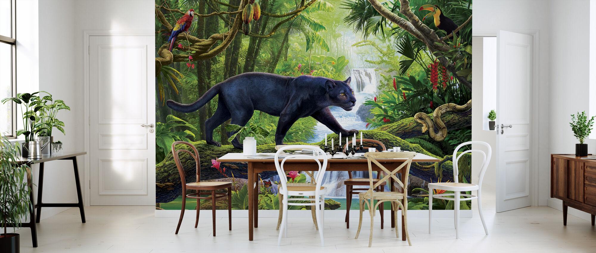 Panter In Jungle - Behang - Keuken