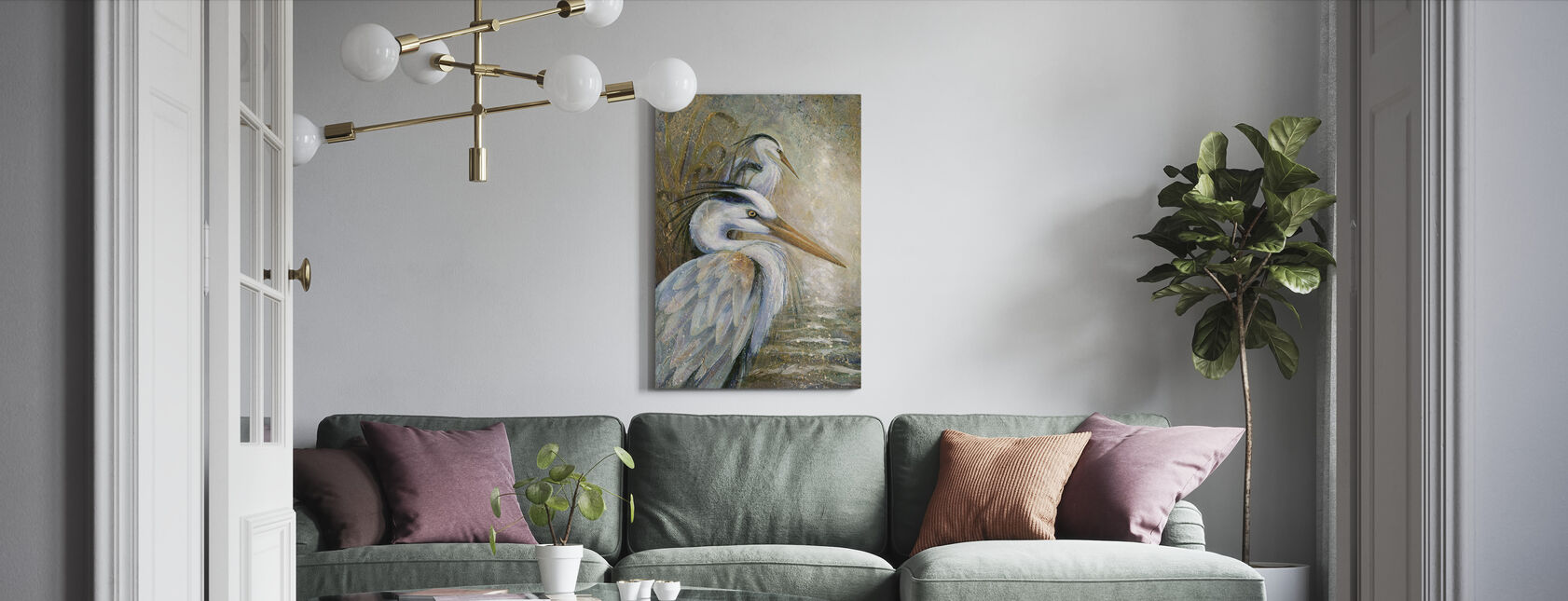 Peace In Stillness - Canvas print - Living Room