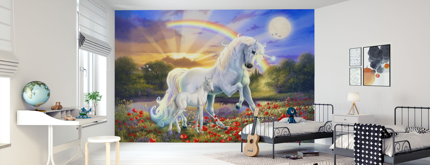 Rainbow Enhjørning - Tapet - Barnerom